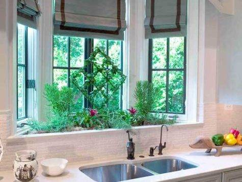 Bay Window Kitchen Sink Transitional