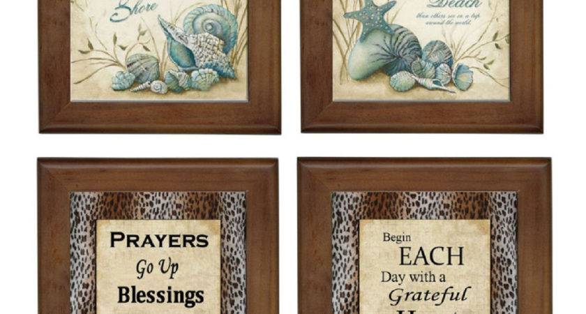 Beach Prayers Ceramic Framed Home Decor Tile Decorative