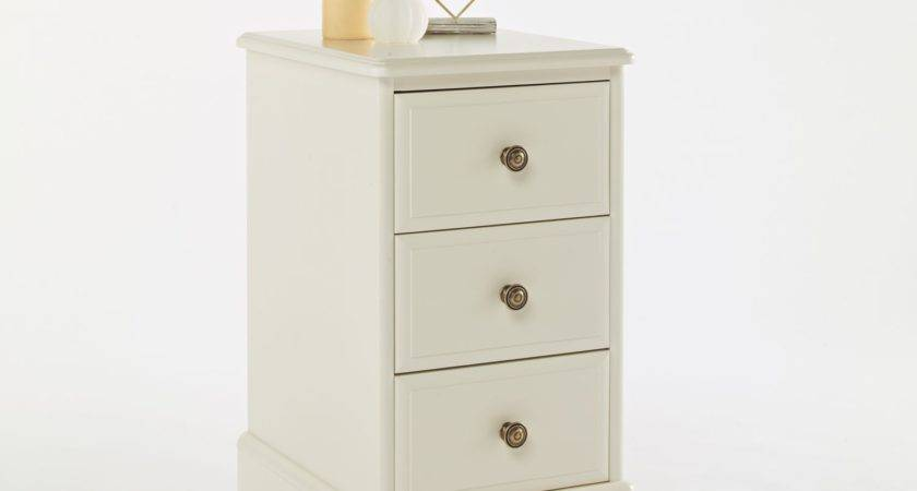 Beaumont Painted Drawer Narrow Bedside Oak Furniture