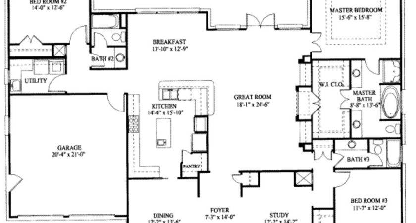 Beautiful One Story House Plans Basement New Home