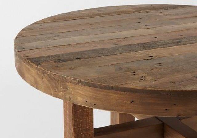 Beautiful Round Dining Table Wood Refining Decor