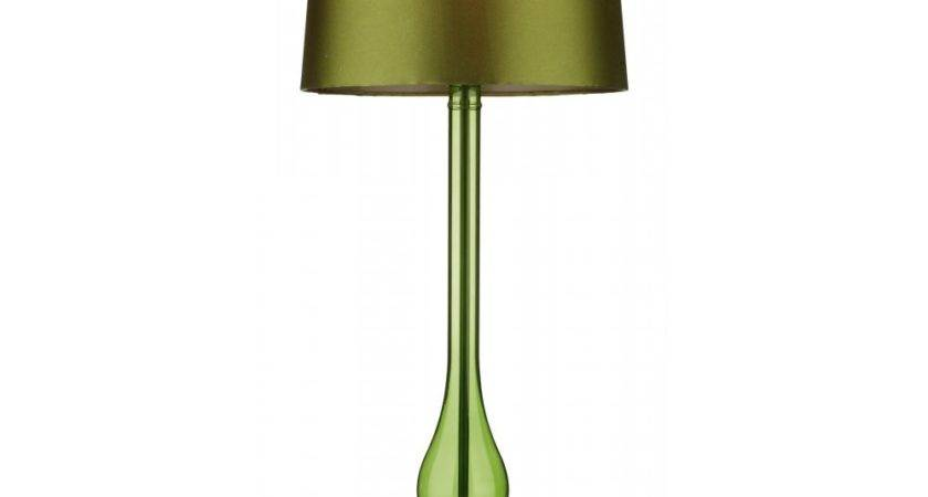 Beautiful Table Lamps Lamp Green Linen