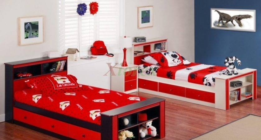 Bedroom Cool Twin Beds Boys Porcelain Tile Wall