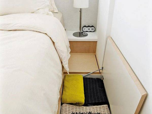 Bedroom Floor Storage Small Space Solution