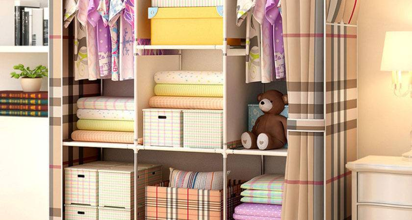 Bedroom Furniture Closet Large Portable Cloth Wardrobe