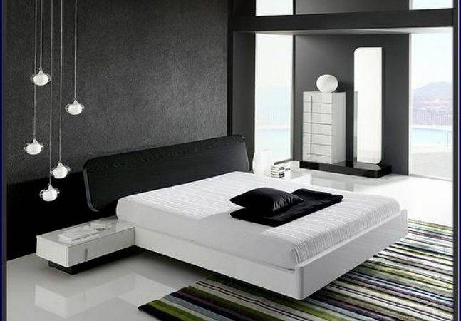 Bedroom Mens Modern Black White Room