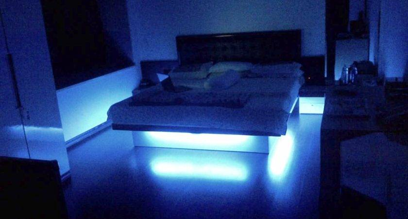 Bedroom Neon Lights Modern Style Home Design Ideas