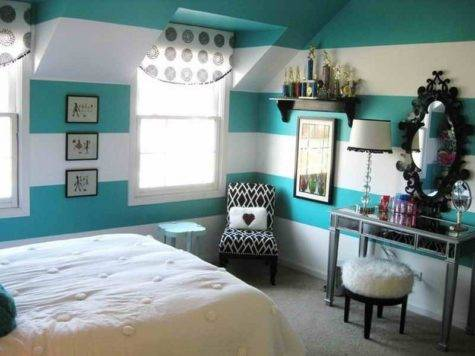 Bedroom Stripped Paint Ideas Teenage Girls