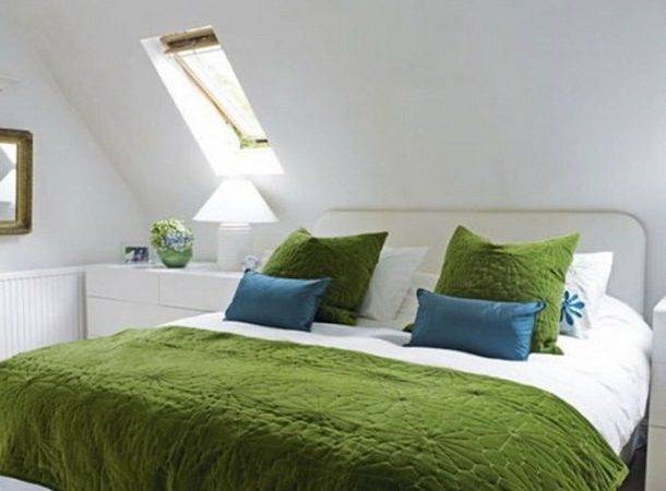 Bedroom Stylish Attic Design Sloped Ceiling