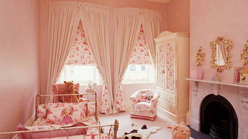 Bedroom White Color Cute Curtains Girls Room