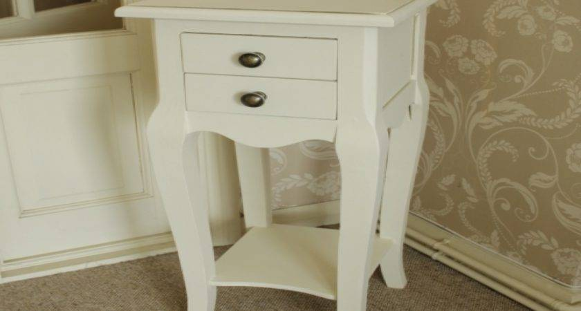 Bedroom White Small Bedside Table Simple Amerock