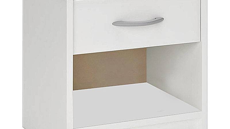 Bedside Table Cabinet White Drawer Bed Side Chest