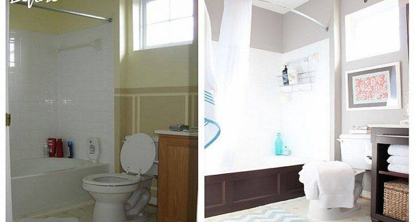Before After Makeovers Bathroom Small Space