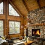 Best Cabin Fireplace Ideas Pinterest Mountain