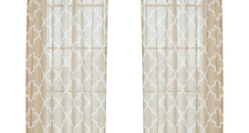 Best Home Fashion Inc Moroccan Single Curtain Panel