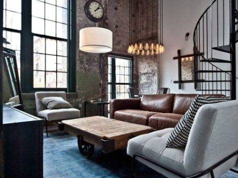 Best Industrial Living Room Design Ideas Remodel