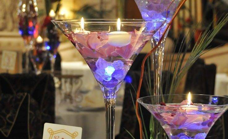 Best Martini Glass Centerpiece Ideas Pinterest