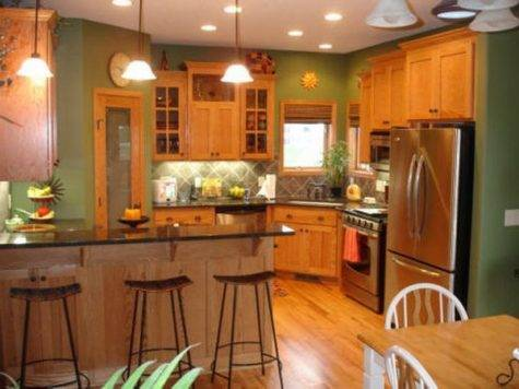 Best Paint Colors Kitchens Oak Cabinets