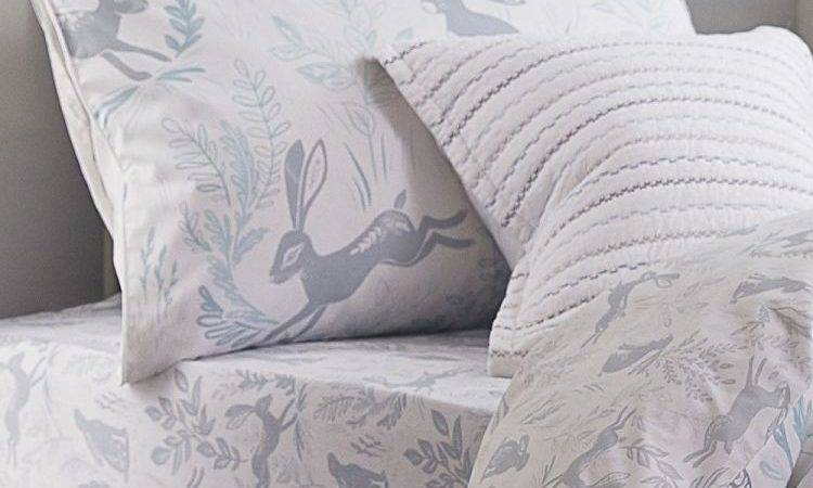 Bianca Cotton Soft Duvet Cover Duck Egg