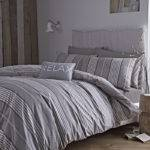 Bianca Cotton Soft Stripe Duvet Cover Set Neutral