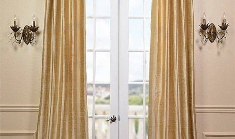 Biscotti Textured Dupioni Silk Curtains Drapes