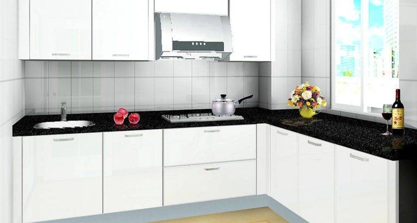 Black Cabinet Paint Color Trend White Countertop