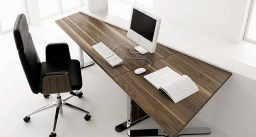 Black Contemporary Stylish Computer Desk Workstation