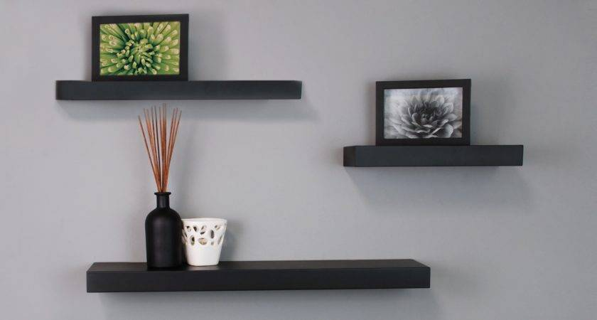 Black Floating Wall Shelves Nexxt Mnml Living