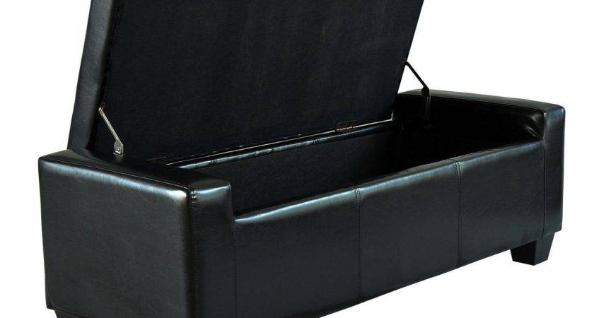Black Ottoman Stool Storage Seat Ideal Home Show Shop