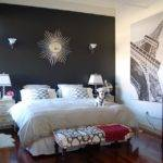 Black Paint Bedroom Walls Grasscloth