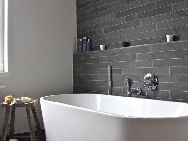 Black Slate Bathroom Wall Tiles Ideas
