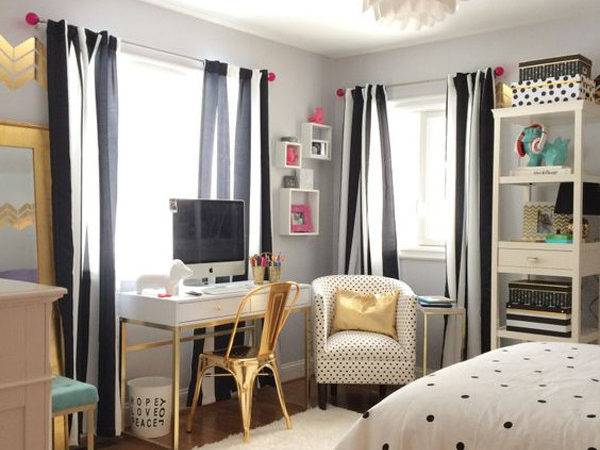 Black White Bedroom Teen Girls Home Design