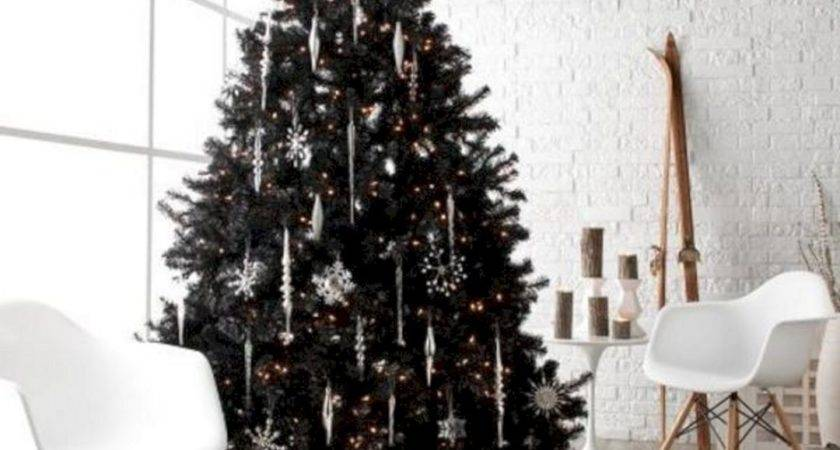 Black White Christmas Tree Decorations Decoor