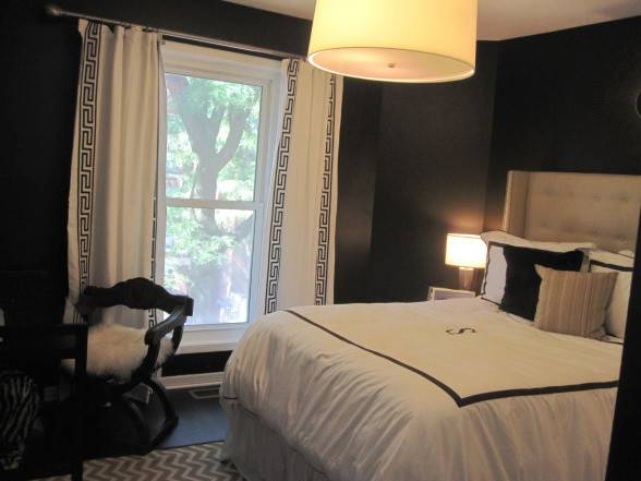 Black White Curtains Contemporary Bedroom Hgtv