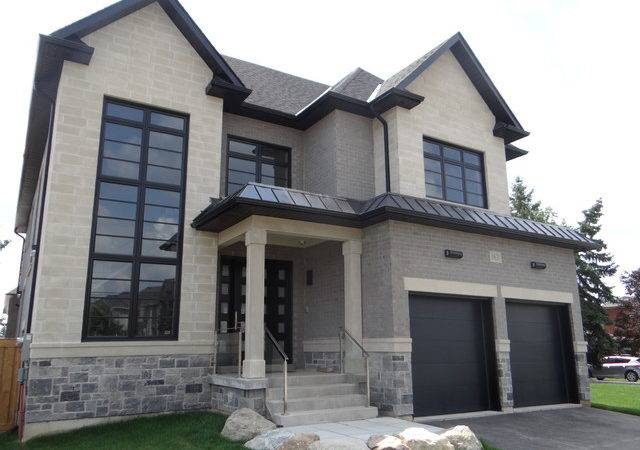Black Windows New Custom House Transitional Exterior