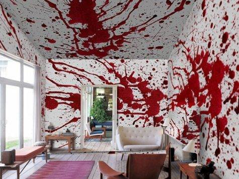 Blood Bath Murals Inspired Roman Polanski