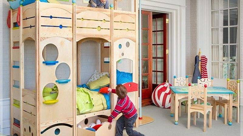 Bloombety Cool Kids Play Bunk Beds Decorating