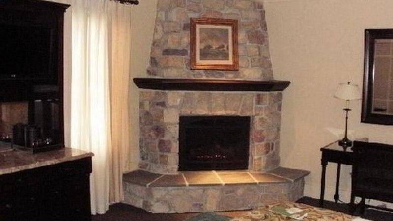 Bloombety Corner Stacked Stone Fireplace Designs