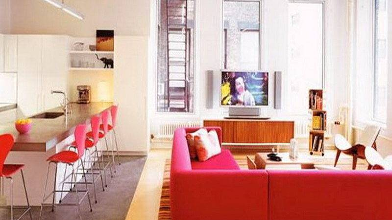 Bloombety Cute Apartment Decor Red Chairs