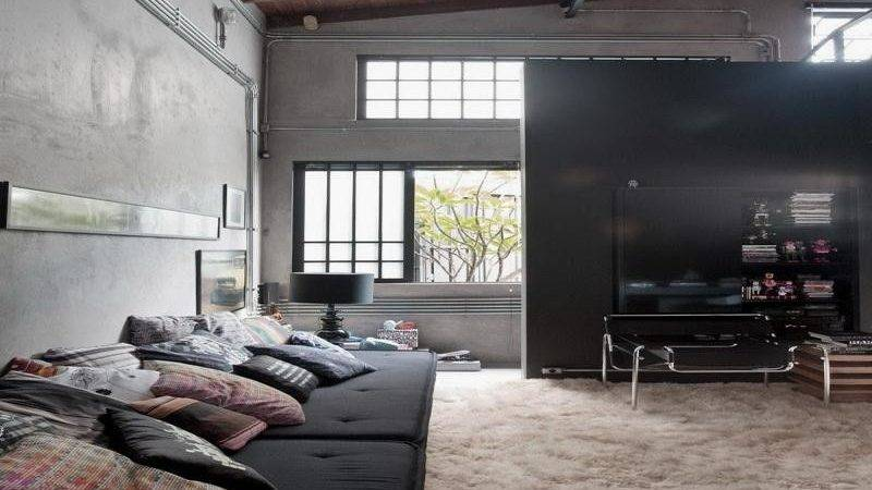 Bloombety Industrial Interior Design Ideas Living