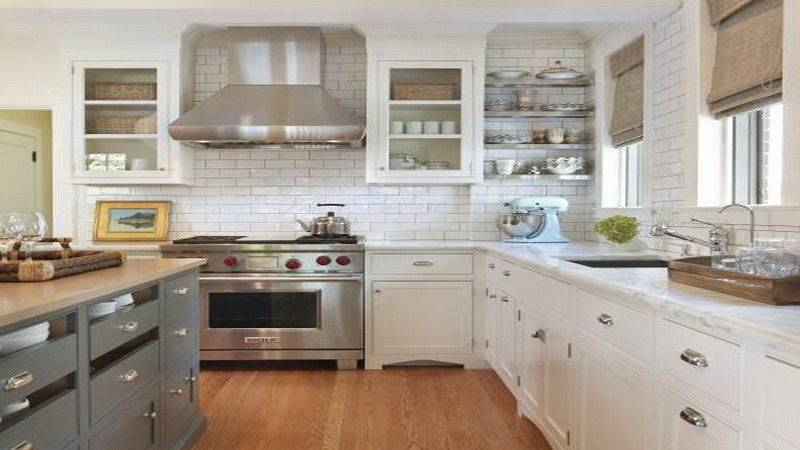 Bloombety Interst Two Tone Kitchen Cabinets