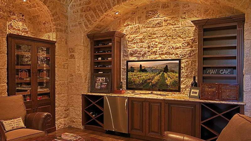 Bloombety Wet Bar Designs Stone Wall