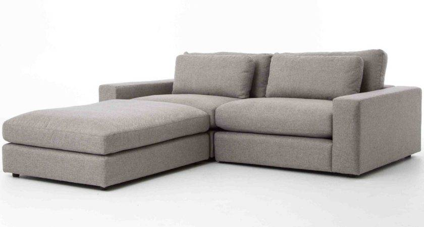 Bloor Gray Contemporary Piece Small Sectional Sofa Zin