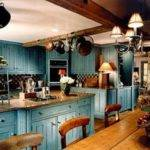 Blue Country Kitchen Designs Interior Design