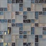 Blue Crackle Glass Mosaic Tile Backsplash Kitchen