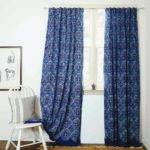 Blue Curtain Fullxfull Moroccan Print