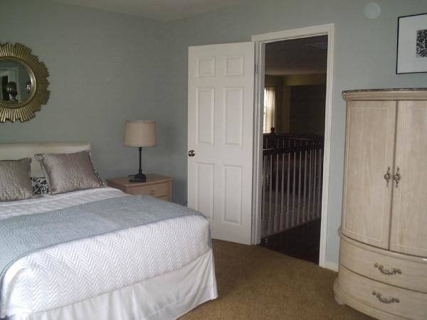 Blue Grey Colored Rooms Interior Decorating