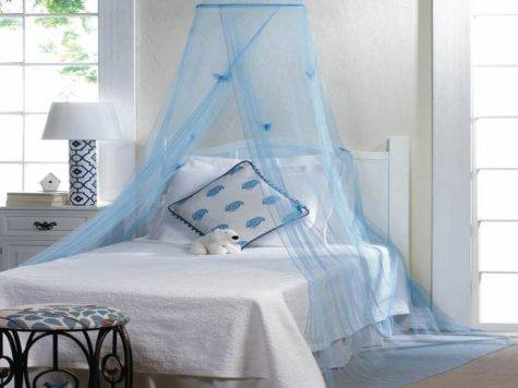 Blue Hanging Hoop Netting Butterflies Baby Boy