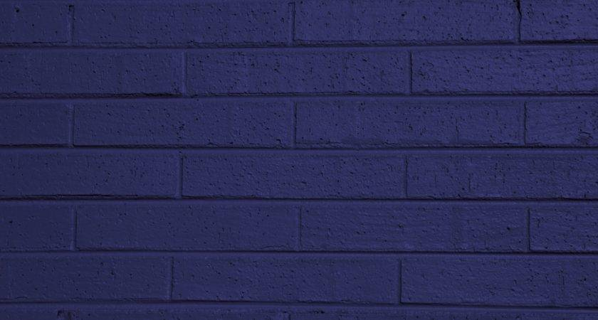 Blue Painted Brick Wall Texture Photograph