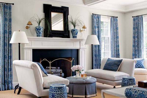 Blue Yellow Green Red Living Room Design Ideas